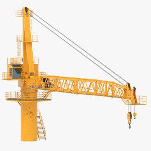 offshore crane 3D model