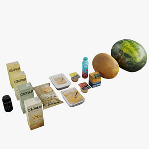 food products 3D model
