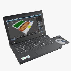 3D laptop ejected model