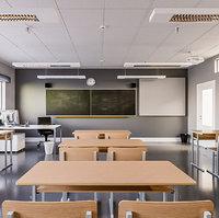 3d Classroom Interior Scene