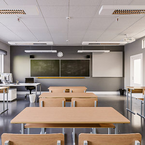 classroom school scene 3D model