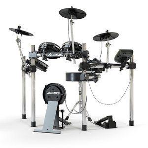 3D model electronic drum set alesis