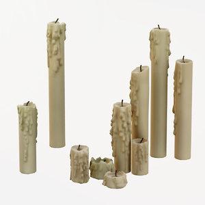 candles - 3D model