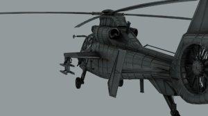 3D model harbin z-19 attack helicopter