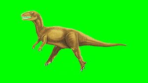 Dinosaur Running Side View