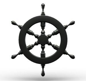 3D rudder ship