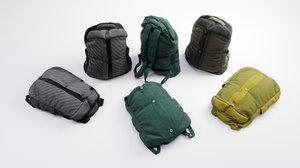 3D backpack luggage baggage