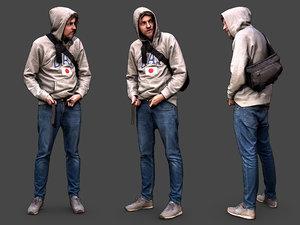 stylized character model