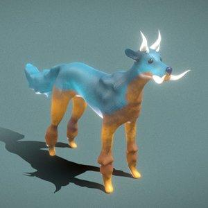 3D fantasy dog