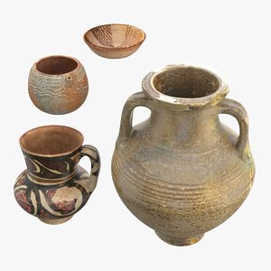 3D model ancient saudi pottery