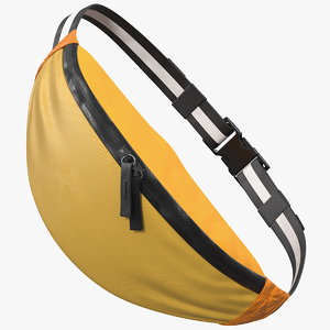 3D sport waist bag orange