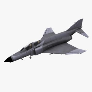 f-4 phantom fighter aircraft 3D model