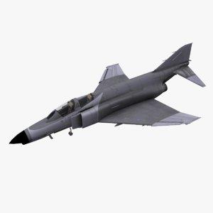 f-4 phantom fighter aircraft 3D model