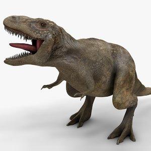 3D rex l970 animate model