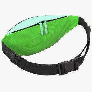 polyester waist bag green 3D