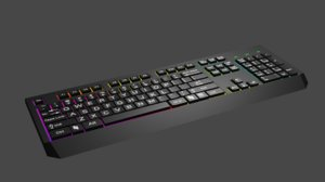 lowpoli keyboard 3D model