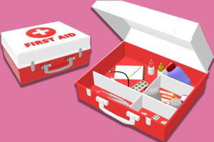 3D medical kit box