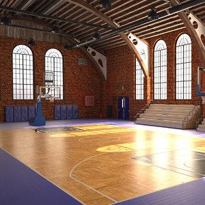 gymnasium arena 3D model