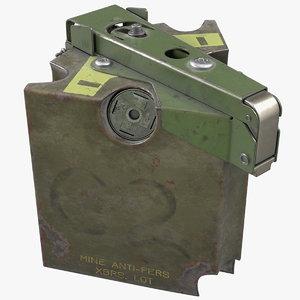 m86 pursuit deterrent munition 3D model