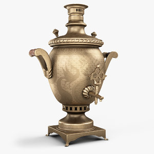 3D antique russian samovar
