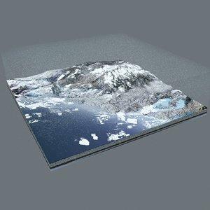 3D piece terrain model