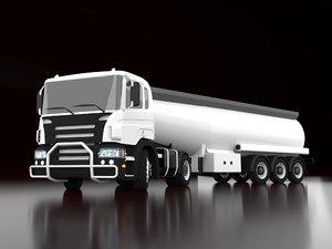 gas oil truck 3D model