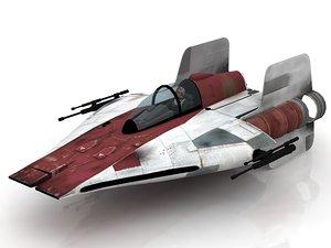 star wars snowspeeder speeder 3D