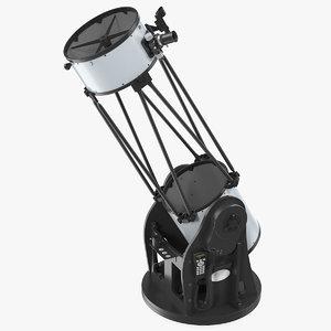 3D truss tube dobsonian telescope