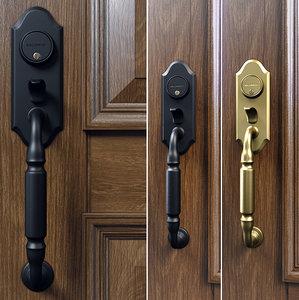 3D ashton two-point lock handleset model