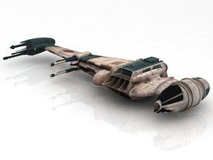 3D star wars b-wing b model