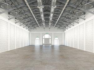 3D exhibition hall interior model