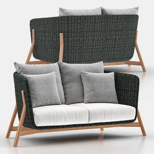 2 sofa 3D model