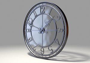 classic clock glass tower 3D model