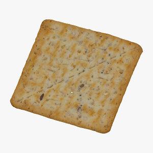 square bio cracker 01 3D model