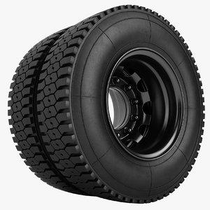 truck wheel 3D