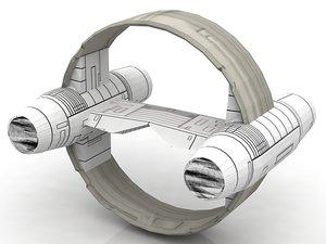 3D jedi starfighter eta-2 hyperdrive