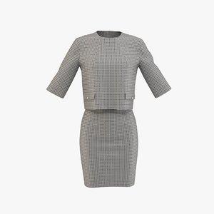 formal dress patterned 3D