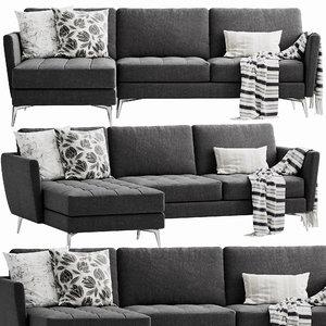 3D boconcept osaka chaise lounge