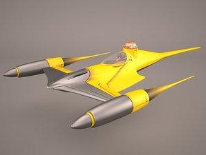 3D model star wars naboo royal