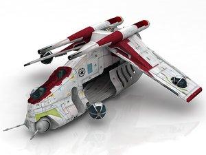 3D model star wars republic gun