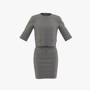 formal dress 3D model