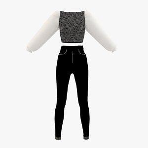 dress cloth 3D
