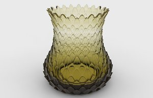 3D jar porcelain decoration model