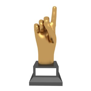trophy award hand 3D model