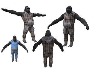 gorila character 3D model
