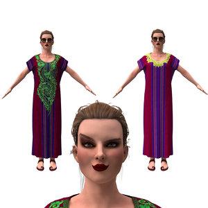 3D realistic girl cloth