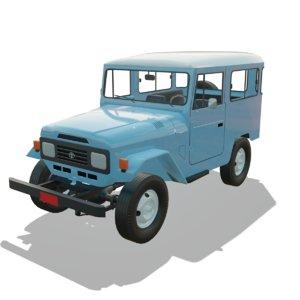 3D toyota land cruiser fj40