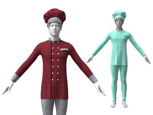 chef clothing 3D