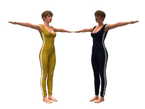 realistic womans clothing character model