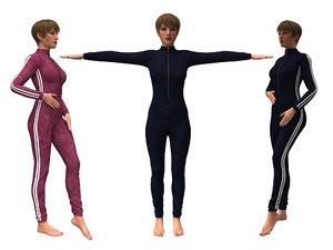 3D model realistic womans clothing designer